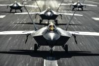 ニュース画像:空自F-35A、アメリカ空軍F-22ラプターと共同訓練