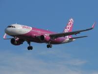 ニュース画像:ピーチ、5月から6月に3,600便を減便