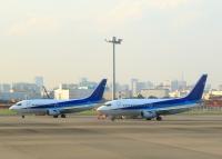 ニュース画像 7枚目:退役フェリー前、羽田で整備された機体 (tuckerさん撮影)