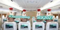 ニュース画像 2枚目:EK2021便に搭乗したエミレーツ航空の客室乗務員