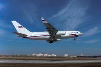 ニュース画像:ロシア政府向け最新Il-96-300、初飛行 最新アビオニクスを搭載