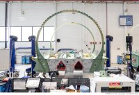 ニュース画像:A321XLR、最重要パーツの中央翼ボックス完成 次工程へ