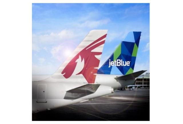 ニュース画像 1枚目:カタール航空とジェットブルー