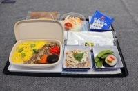 ニュース画像 5枚目:バガス素材を使用した機内食、盛り付けイメージ