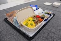 ニュース画像 6枚目:バガス素材を使用した機内食、盛り付けイメージ