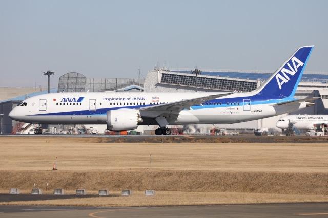 ニュース画像 1枚目:ANA B787-8型機「JA814A」イメージ(sky-spotterさん 2021/01/10撮影)