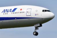 伊勢志摩サミットデカール機、ANAの777-300「JA777A」離日の画像