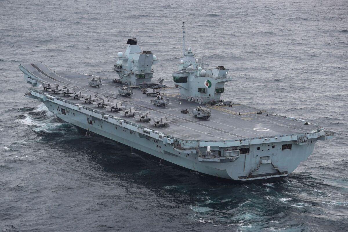 ニュース画像 1枚目:空母「クイーン・エリザベス」での艦載機たち