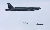 ニュース画像:空自F-15とF-2、米B-52と要撃戦闘訓練など実施