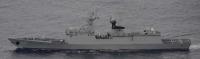 ニュース画像:中国海軍艦艇、宮古海峡を南下後・与那国島と台湾の間を北上