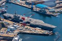 ニュース画像:空母ロナルド・レーガン艦載機、硫黄島で着陸訓練 5月15日まで