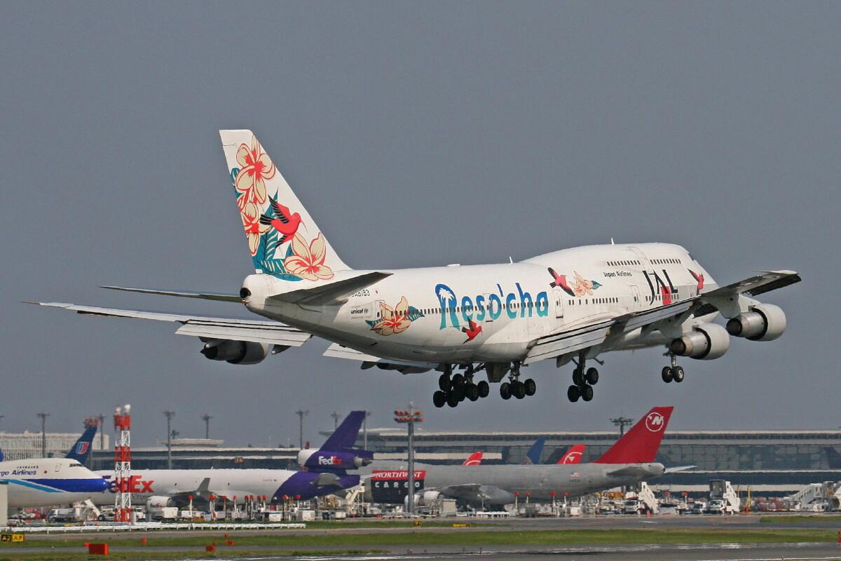 ニュース画像 5枚目:リゾッチャ号の背景には懐かしい航空会社の機体も(ミンミンさん撮影)