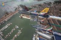 ニュース画像:イタリア空軍フレッチェ・トリコローリ、60周年シーズン開幕 特別塗装で