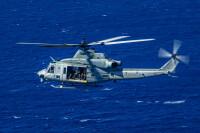 ニュース画像:アメリカ海兵隊のUH-1Yヴェノム、沖縄・津堅島で不時着