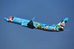 ニュース画像 6枚目:アラスカ航空の「スピリット・オブ・ディズニーランド 2号機」 N318AS(nobu2000さん撮影)