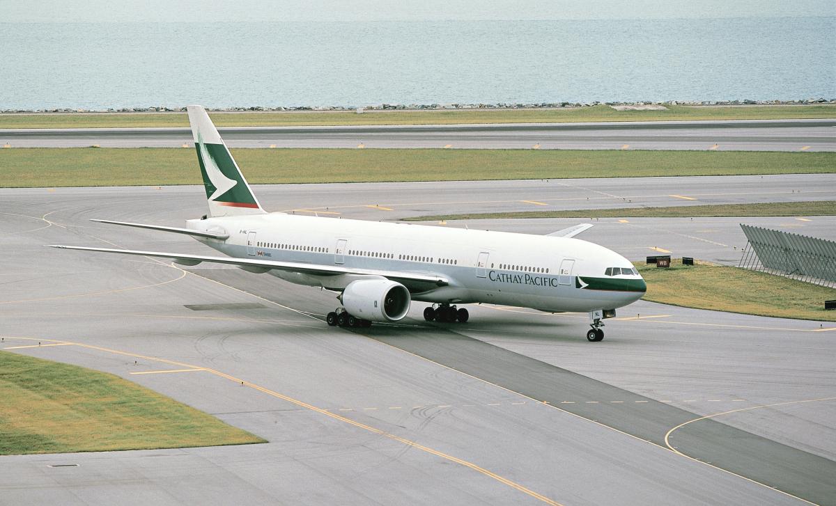 ニュース画像 2枚目:777初号機、ボーイングでは「N7771」で使用、キャセイパシフィック航空では「B-HNL」
