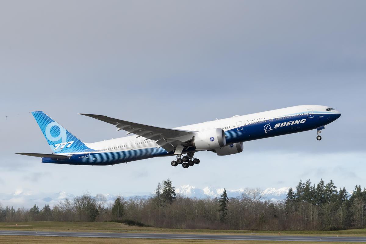 ニュース画像 5枚目:777-9初号機、初飛行 レジは「N779XW」