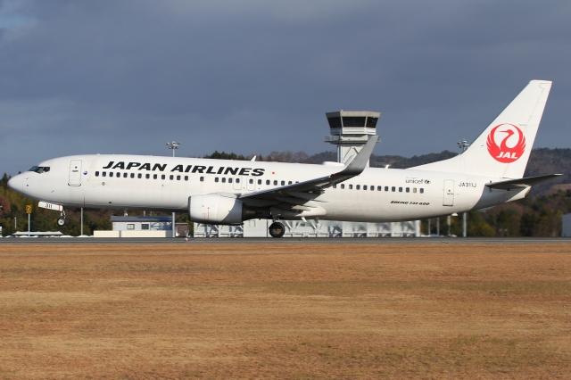 ニュース画像 1枚目:広島空港を発着するJALイメージ(Wings Flapさん撮影)