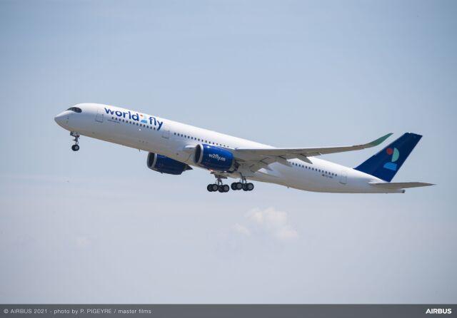 ニュース画像 1枚目:World2flyのA350-900型機