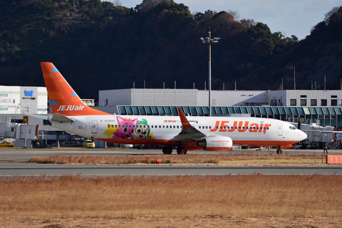 ニュース画像 2枚目:松山空港でのチェジュ航空 イメージ (ひこ☆さん撮影)