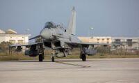 ニュース画像 2枚目:会場付近の上空で空中待機したタイフーン戦闘機 イメージ