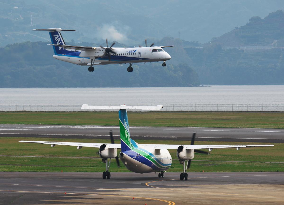 ニュース画像 10枚目:ORCのQ200とANA/ORC共通機材のQ400 (ポン吉さん撮影)