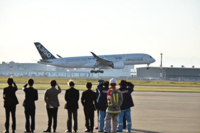 ニュース画像 2枚目:羽田初飛来時のA350