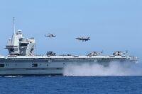 ニュース画像:クイーン・エリザベスのF-35B、イタリアなど4カ国の戦闘機と演習