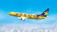ニュース画像:スカイマーク、特別塗装機「ピカチュウジェットBC」を就航
