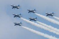ニュース画像:ブルーインパルス、東京オリ・パラ開幕にあわせ祝賀飛行