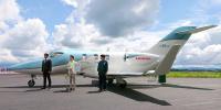 ニュース画像:ホンダジェット、バイオジェット燃料「サステオ」で飛行