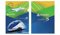 ニュース画像:春秋航空日本、機内で京成チケット購入 コラボクリアファイルプレゼント