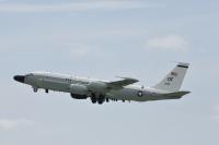 ニュース画像:アメリカ空軍RC-135Sコブラボール、再び日本海を飛行