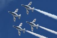 ニュース画像:ブルーインパルス、入間基地に展開 オリンピック開会式前の展示飛行で