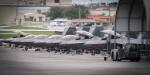 ニュース画像 1枚目:アンダーセン空軍基地に展開したF-22ラプター