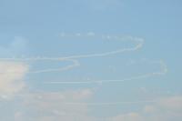 ニュース画像 2枚目:オリンピックシンボルを描くブルーインパルス