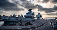 ニュース画像:空母「クイーン・エリザベス」、横須賀へ寄港 日英防衛相が合意
