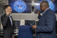 E-4Bナイトウォッチ機内で史上最速の宣誓式?!の画像