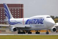 ニュース画像:強風で成田空港4,000メートル滑走路へアプローチ、747コクピットの様子