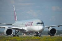 ニュース画像:カタール航空、A350の13機を運航停止 塗装剥離を問題視