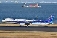 ニュース画像:ANA、A321neo新造機「JA145A」受領 16時ごろ羽田到着