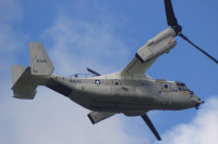 ニュース画像:空母カール・ヴィンソン搭載CMV-22Bオスプレイ、初めて日本上陸