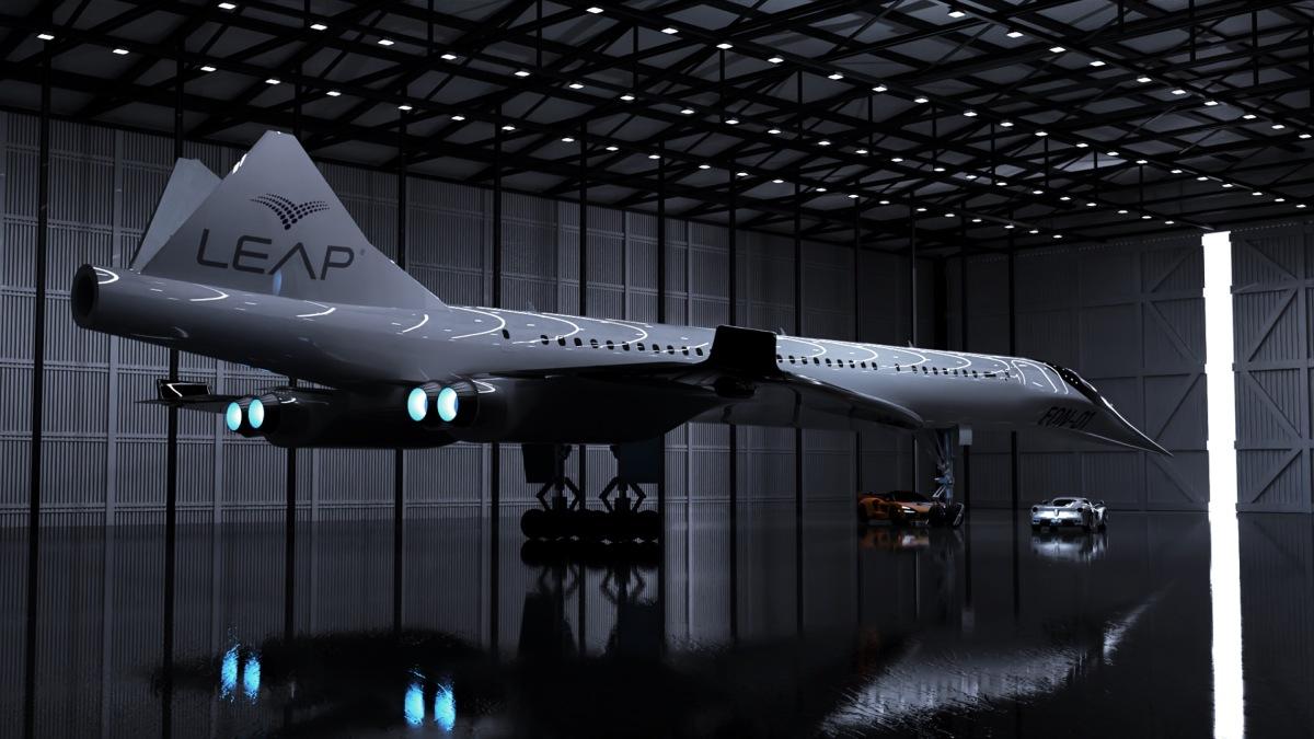 ニュース画像 1枚目:リープ・エアロスペースが開発する超音速旅客機「L.E.A.P EON-01」イメージ