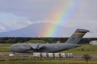 ニュース画像:嘉手納18WGと第2航空団の訓練スタート、C-17グローブマスターが輸送支援