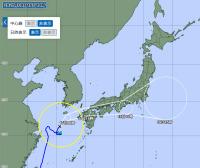 ニュース画像:台風14号、九州から西日本・関東地方を通過へ 定期便に影響