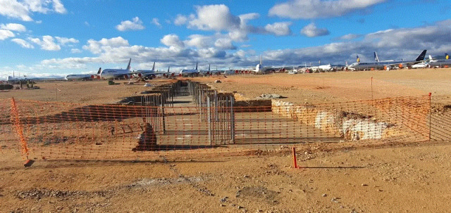 ニュース画像 1枚目:テルエル空港で格納庫建設へ イメージ