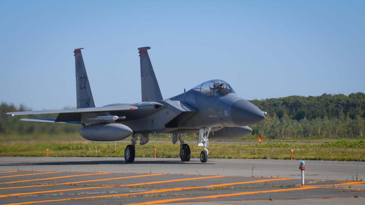 ニュース画像 1枚目:千歳基地で訓練に参加した67FSのF-15Cイーグル「81-0040」