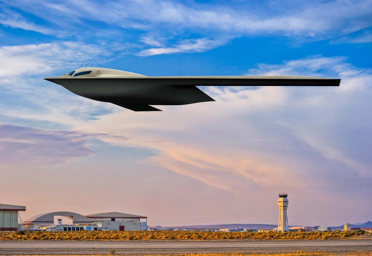 ニュース画像 1枚目:7月に公開されたB-21レイダーのレンダリング画像