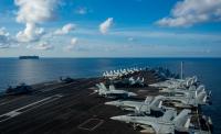 ニュース画像:空母ロナルド・レーガン、アフガニスタン作戦の支援終了で南シナ海へ