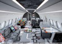 ニュース画像:現代アーティスト手がけたビジネスジェット新客室、ACJ220に採用